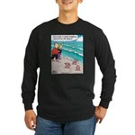 Starfish Wash Up on Beach Long Sleeve Dark T-Shirt