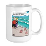 Starfish Wash Up on Beach Large Mug