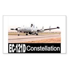 EC-121 Warning Star Rectangle Sticker 10 pk)