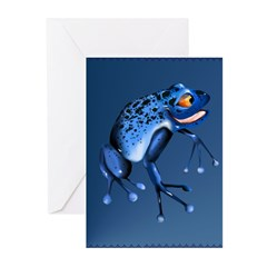 Fun Blue Frog Greeting Cards (Pk of 10)