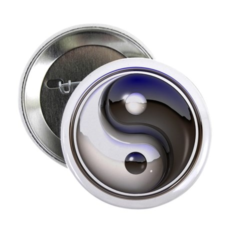 """Yin and Yang 2.25"""" Button (10 pack)"""