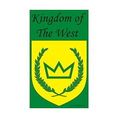 Kingdom of the West Rectangle Sticker 10 pk)