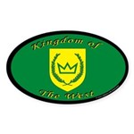 Kingdom of the West Oval Sticker (10 pk)