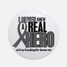 Never Knew A Hero 2 Grey (Granddaughter) Ornament