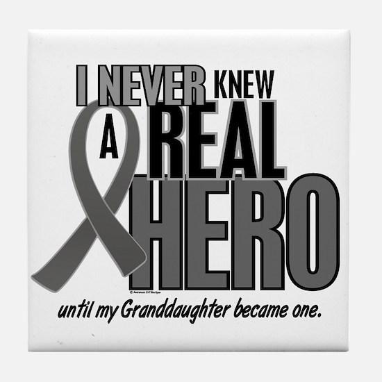 Never Knew A Hero 2 Grey (Granddaughter) Tile Coas