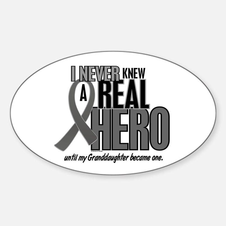 Never Knew A Hero 2 Grey (Granddaughter) Decal