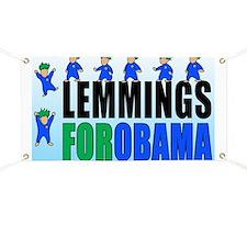 Lemmings for Obama Banner