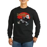 Slacker Panda Long Sleeve Dark T-Shirt