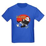 Slacker Panda Kids Dark T-Shirt