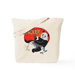 Slacker Panda Tote Bag