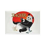 Slacker Panda Rectangle Magnet (100 pack)