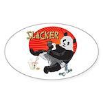 Slacker Panda Oval Sticker