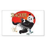 Slacker Panda Rectangle Sticker