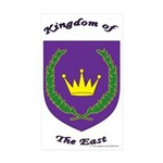 East kingdom Rectangle Sticker 50 pk)