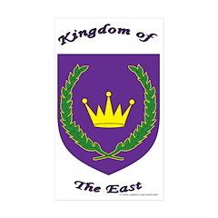 East kingdom Rectangle Sticker 10 pk)
