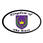 East kingdom Oval Sticker (50 pk)
