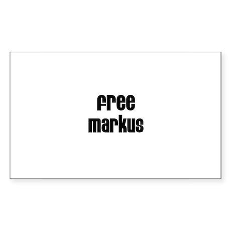 Free Markus Rectangle Sticker