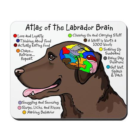 Chocolate Lab Brain Mousepad