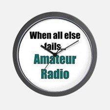 When all else fails..Amateur Radio Wall Clock
