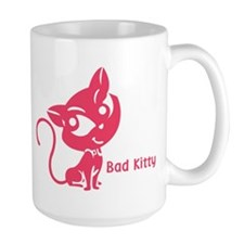 Pink Bad Kitty Mug