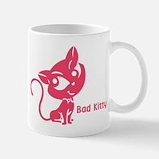 Pink Bad Kitty Mug