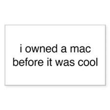 i owned a mac Rectangle Decal