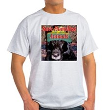 Save Homeless Animals Ash Grey T-Shirt