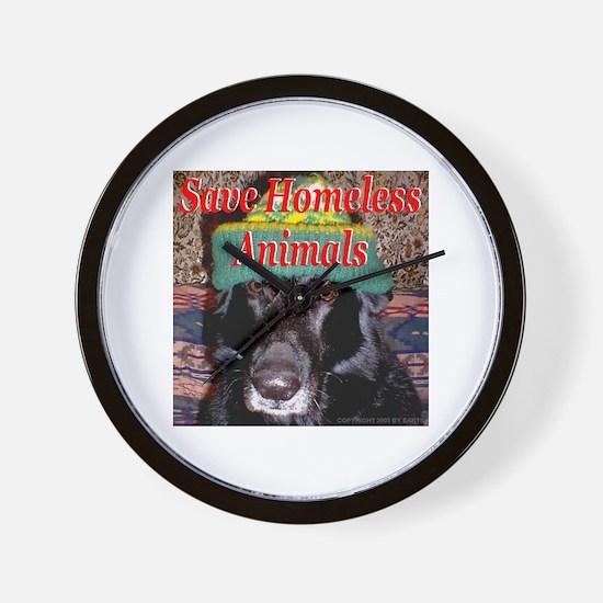 Save Homeless Animals Wall Clock