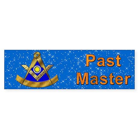 Masonic PM W/Square Bumper Sticker