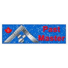 Masonic Canadian Past Master Bumper Bumper Sticker