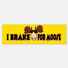 I Brake for MOOSE Bumper Sticker (10 pk)