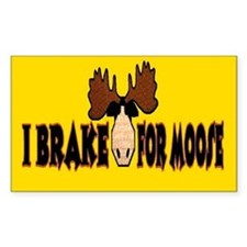 I Brake for MOOSE Rectangle Decal