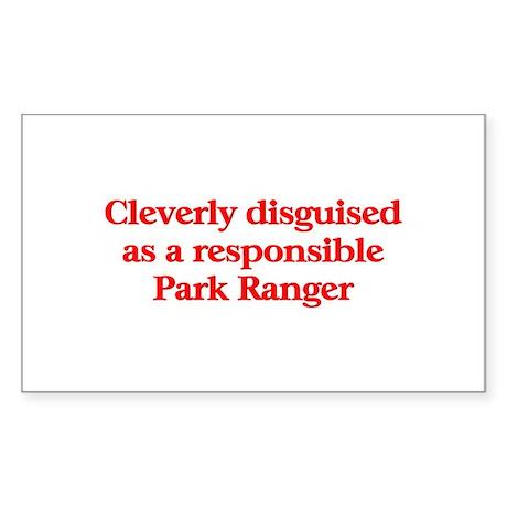 Park Ranger Rectangle Sticker 10 pk)