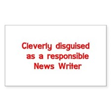 News Writer Rectangle Sticker 10 pk)