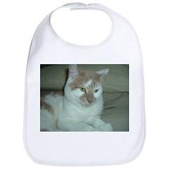 White and Tan Cat Bib