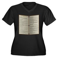 Dragon's Den Tavern Menu Women's Plus Size V-Neck