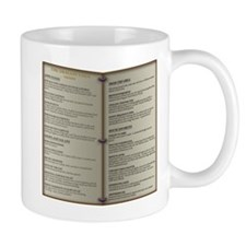 Dragon's Den Tavern Menu Mug