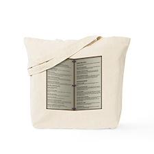Dragon's Den Tavern Menu Tote Bag