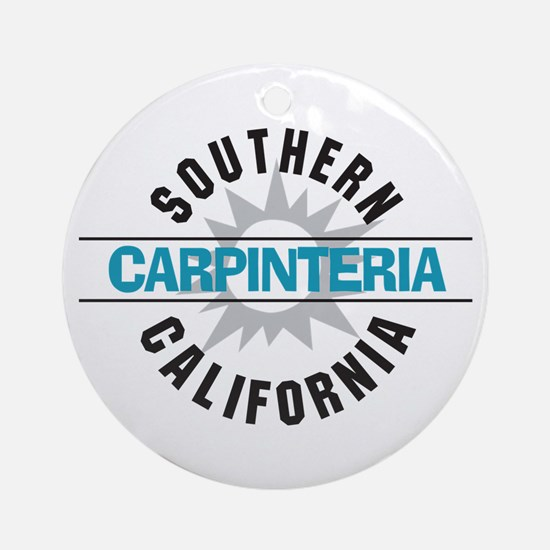Carpinteria California Ornament (Round)