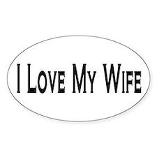 I Love My Wife Oval Sticker (10 pk)