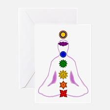 Chakras - Mandalas Greeting Card