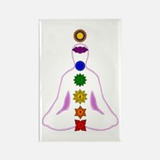 Chakras - Mandalas Rectangle Magnet