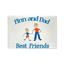 Finn and Dad - Best Friends Rectangle Magnet