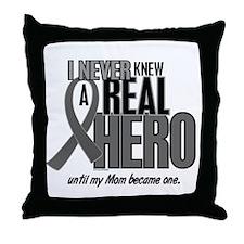 Never Knew A Hero 2 Grey (Mom) Throw Pillow