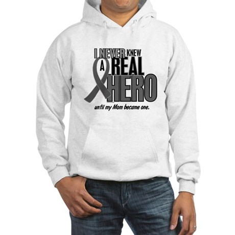 Never Knew A Hero 2 Grey (Mom) Hooded Sweatshirt