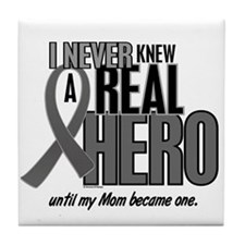 Never Knew A Hero 2 Grey (Mom) Tile Coaster