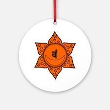 Sacral Chakra Mandala Ornament (Round)