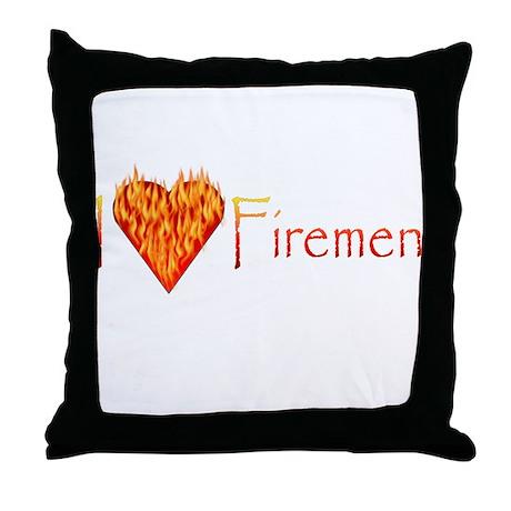 I Love Firemen! Throw Pillow