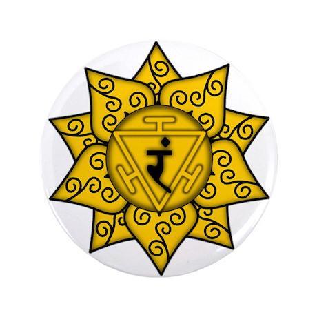 "Solar Plexus Mandala 3.5"" Button (100 pack)"