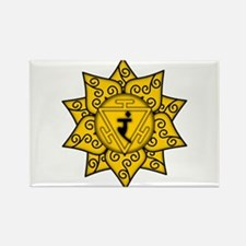Solar Plexus Mandala Rectangle Magnet